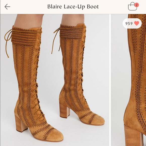 fff83f2fc Blaire Lace-Up boot. NWT. Free People